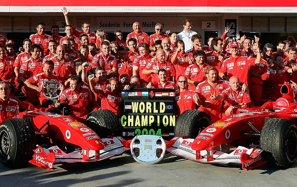 Scuderia Ferrari team in 2004